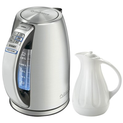 PerfectTemp Cordless Electric Kettle w/ Copco Simplify 1 Quart Carafe, White