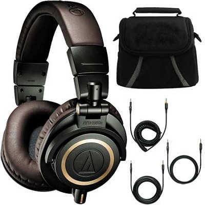 ATH-M50xDG Limited Edition Professional Headphones - Dark Green Deluxe Bundle