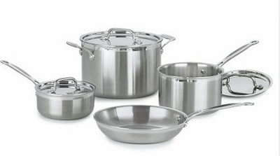 Multiclad Pro Tri-Ply Stainless 7 pc. cookware set (MCP-7)