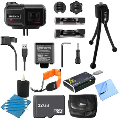 VIRB X Compact Waterproof HD Action Camera with G-Metrix 32GB Memory Card Bundle