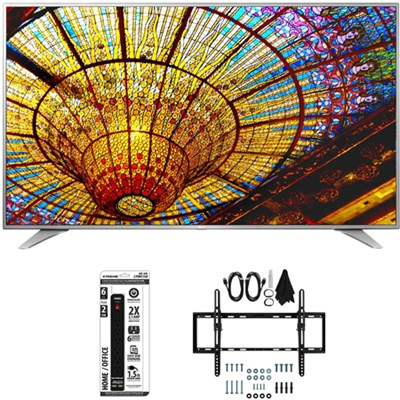 55UH6550 55-Inch 4K UHD Smart TV w/ webOS 3.0 Flat + Tilt Wall Mount Bundle