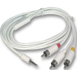 AV cables for ipod (streams your music / videos to your TV)