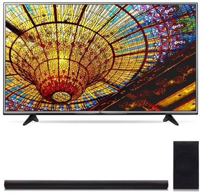 55UH6030 - 55-Inch 4K UHD Smart LED TV w/ webOS 3.0 + SH7B Premium Soundbar