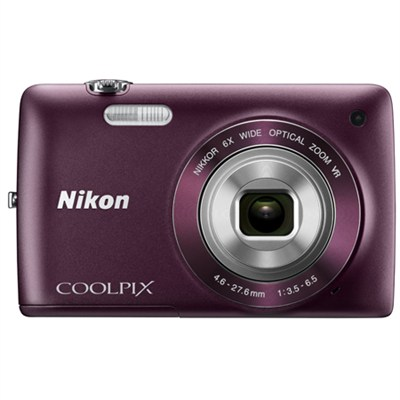 COOLPIX S4300 16MP 3-inch Touch Screen Digital Camera (Plum) Refurbished