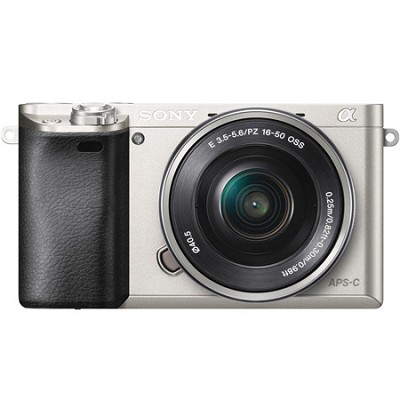 Alpha a6000 24.3MP Silver Interchangeable Lens Camera w/ 16-50mm Power Zoom Lens