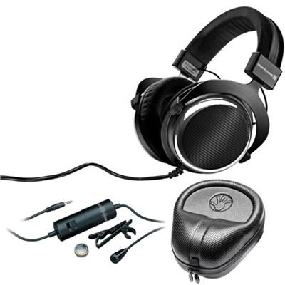 T90 Chrome Exclusive Limited Edition Audiophile Headphones 250 OHM w/ Mic Bundle