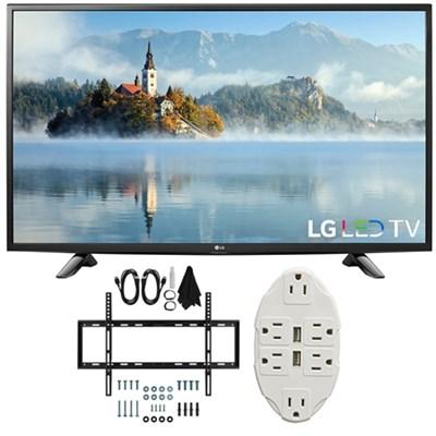 49` 1080p Full HD LED TV 2017 Model 49LJ5100 with Wall Mount Bundle