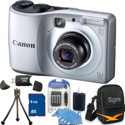 PowerShot A1200 Silver Digital Camera 8GB Bundle