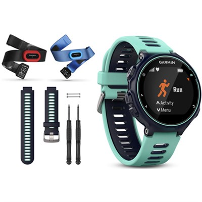 Forerunner 735XT GPS Running Watch Tri-Bundle with Blue Band - Midnight Blue