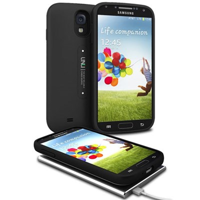 Aero Samsung Galaxy S4 Battery w/Wireless Charging Pad - Black - OPEN BOX