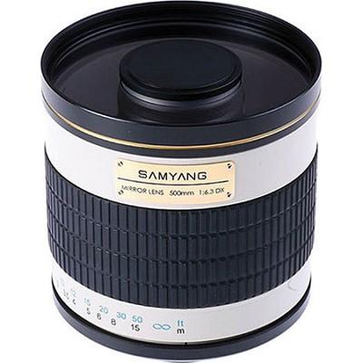 500mm F6.3 Mirror Lens - White Body