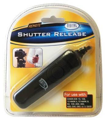 Remote Shutter Release f/ Canon Rebel XT, XTI, XSI, XS, Pentax K100, K100D etc