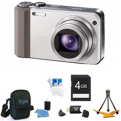 Cyber-shot DSC-HX7V White Digital Camera 4GB Bundle