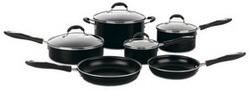 Advantage Nonstick 10-Piece Cookware Set, Black