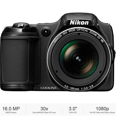 COOLPIX L830 16 MP 30x Zoom Digital Camera Black - Certified Refurbished