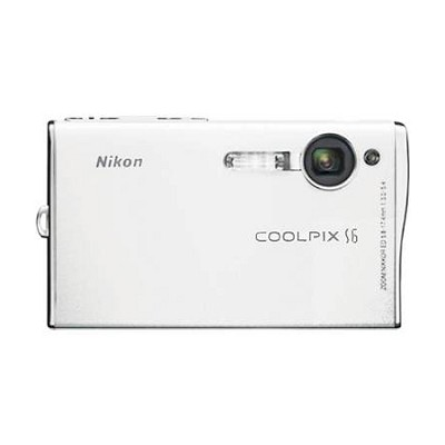 Coolpix S6 Digital Camera, White - Special Edition