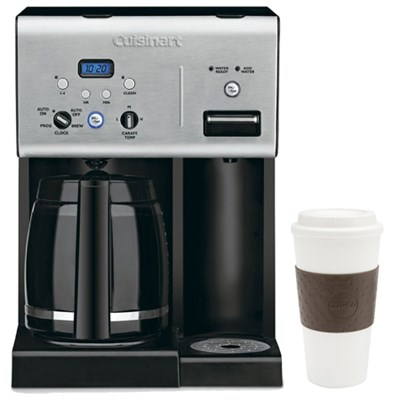 CHW-12 Coffee +12-Cup Programmable Coffeemaker w/ Hot Water System, Black + Mug