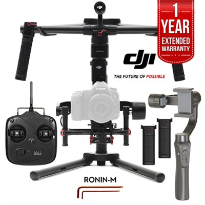 Ronin M 3-Axis Brushless Gimbal + Zhiyun Smooth Q Smartphone Gimbal Kit