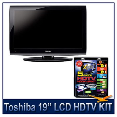 19C100U 720p LCD HDTV (Black) + High-performance HDTV Hook-up & Maintenance Kit