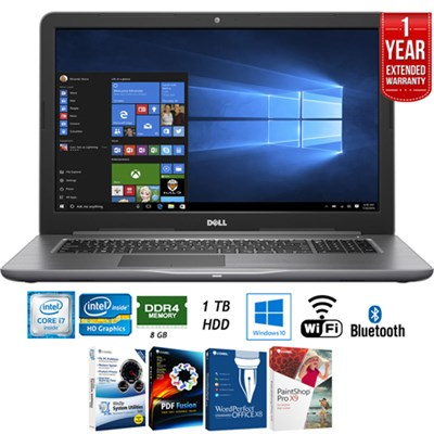 Inspiron 17.3` FHD 7th Gen Intel Core i5 Laptop + Extended Warranty Pack
