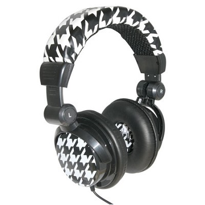 Caynine Designer Headphones - White and Black