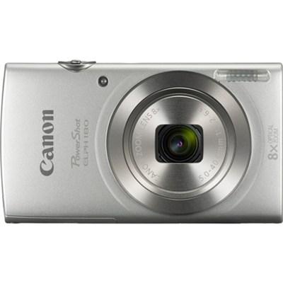 PowerShot ELPH 180 20MP 8x Optical Zoom HD Video Silver Digital Camera