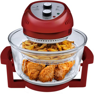 9063 Oil-Less Air Fryer 1300-Watt 16-Quart, Red