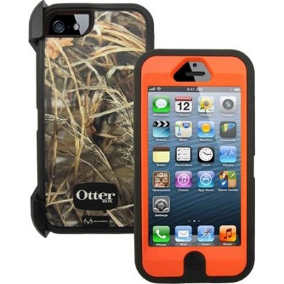 Defender Case & Holster for Apple iPhone 5 5S Realtree Max 4HD Blazed