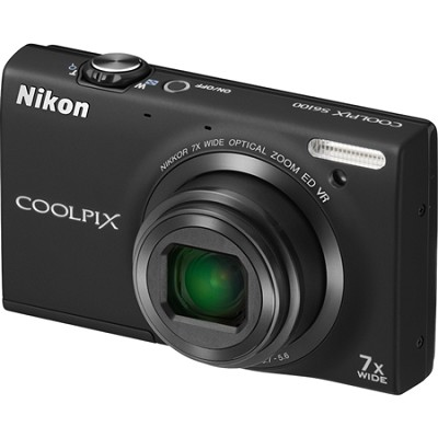 COOLPIX S6100 16MP Black Digital Camera w/ HD Video