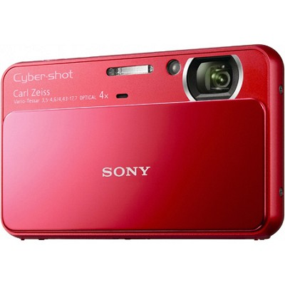 Cyber-shot DSC-T110 16.1MP Red Touchscreen Digital Camera