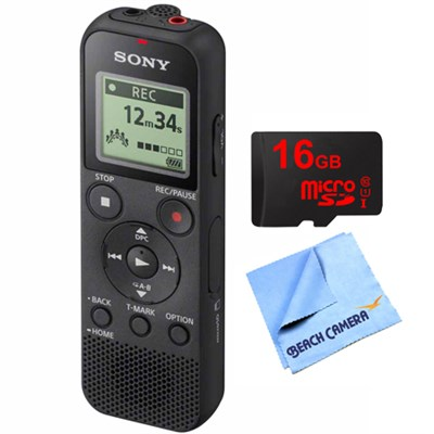 Digital Voice Recorder PX370 with 16GB Memory Card & Micro Fiber Cloth