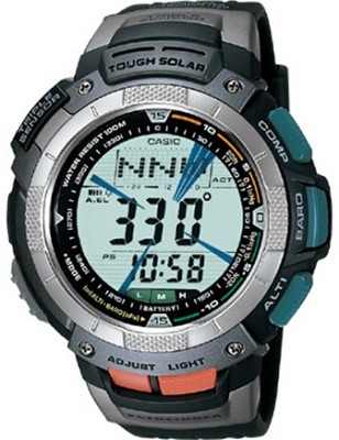 PAG80-1V - Men's Pathfinder Tough Solar Triple Sensor Watch - Black Resin Band