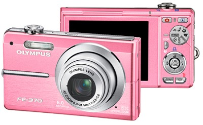 FE-370 8MP Digital Camera with Smile Shot (Pink)