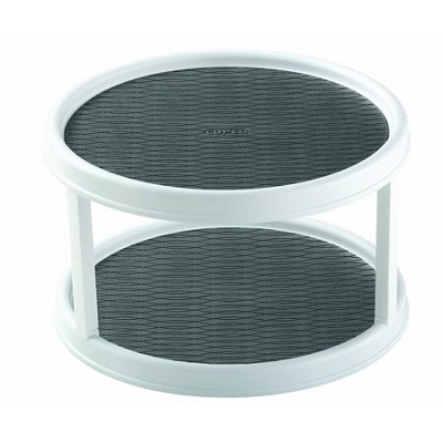 2555-0187 Non-Skid 2-Tier Cabinet Turntable, 12-Inch