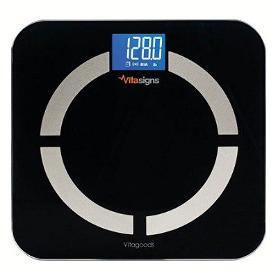 Bluetooth Digital Body Analyzer Scale, Black Glass - Black