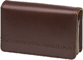 Premium Compact Leather Case (Brown)