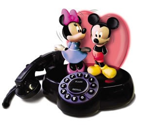 Novelty `Mickey and Minnie` animated talking telephone ( 026094 )