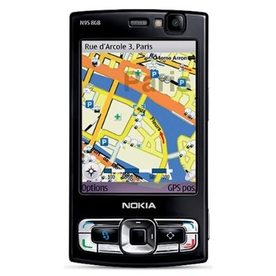 N95 8GB Unlocked Cell Phone with 5 MP Camera, 3G, GPS, Media Player (Black)