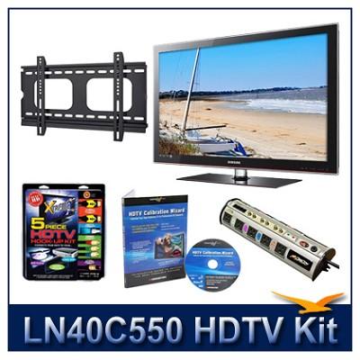 LN40C550 - 40` HDTV + Hook-up Kit + Power Protection + Calibration + Flat Mount