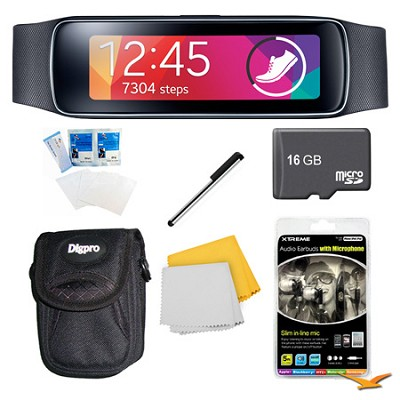 Gear Fit Black Watch, Case, and 16GB Card Bundle