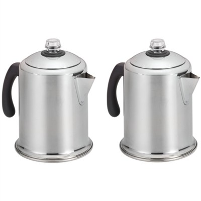 8-Cup Stainless Steel Percolator Model 50124 - 2 Pack