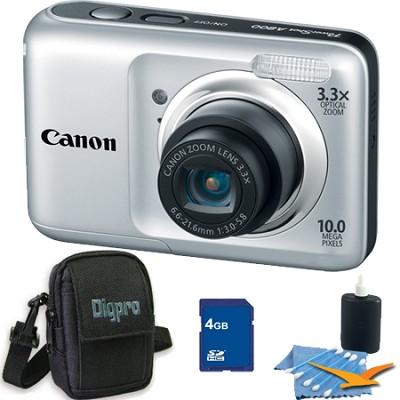 PowerShot A800 10MP Silver Digital Camera 4GB Bundle