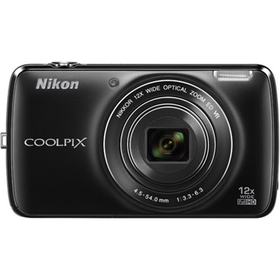 COOLPIX S810c 16MP 12x Optical Zoom Digital Camera - Black (Factory Refurbished)