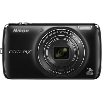COOLPIX S810c 16MP 12x Optical Zoom Digital Camera - Black (Factory Refurbished)