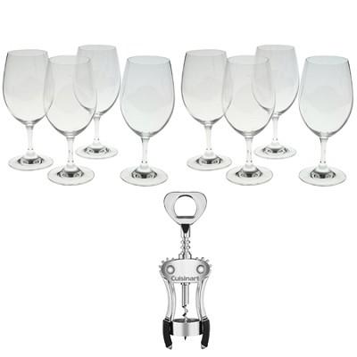 Ouverture Magnum Red Wine Glass Set of 8 Glasses Corkscrew Bundle