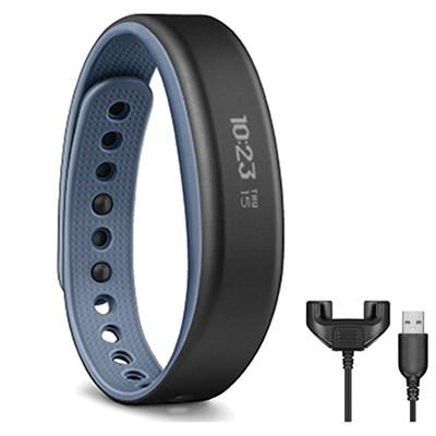 vivosmart Bluetooth Activity Tracker (Large/Blue) + Bonus Charging Clip