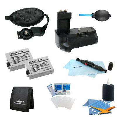 Ultimate Battery Grip Kit for the Canon Rebel T2i