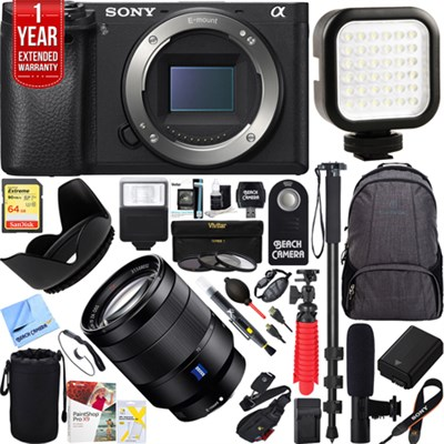 a6500 4K Mirrorless Camera 24-70mm F4 ZA OSS Lens Complete Photographer Bundle