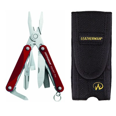 831189 - Squirt PS4 Red Keychain Tool with Pliers Custom Sheath Bundle