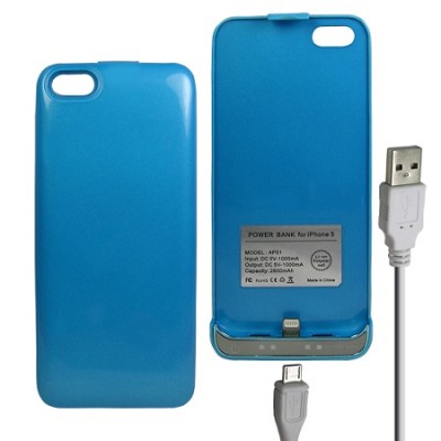 iPhone 5 Battery Case 2600mAh - Blue